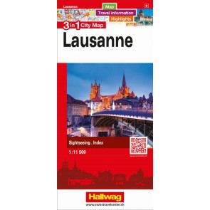 Lausanne 3 in 1 City Map