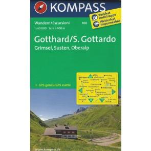 Gotthard/S. Gottardo,  Grimsel, Susten, Oberalp