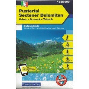 Pustertal - Sextener Dolomiten (Brixen-Bruneck-Toblach)