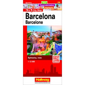 Barcelona 3 in 1 City Map