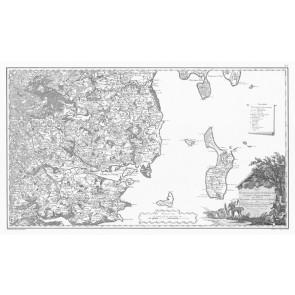 Jylland Øst (syd delen) Videnskabernes Selskabs kort