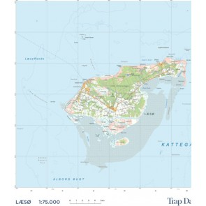Trap Danmark: Kort over Læsø Kommune