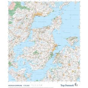 Trap Danmark: Kort over Morsø Kommune