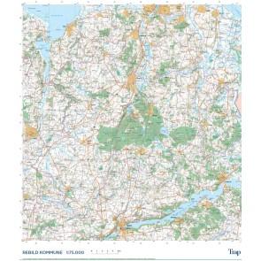 Trap Danmark: Kort over Rebild Kommune