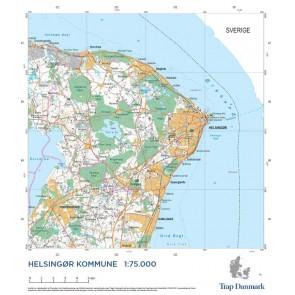 Trap Danmark: Kort over Helsingør Kommune