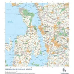 Trap Danmark: Kort over Frederikssund Kommune