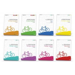 8 Cykelkort Nordlige Sjælland, Sydlige  Sjælland, Fyn, Bornh