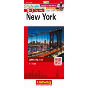 New York 3 in 1 City Map