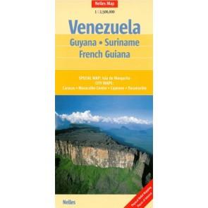 Venezuela, Guyana, Suriname, French Guiana