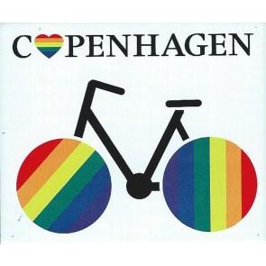 Cykel - Rainbow/Copenhagen - magnet