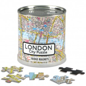London City Puzzle/London bykort puslespil magnet