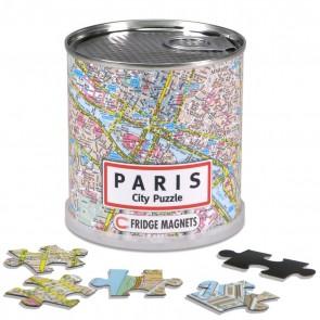 Paris City Puzzle/Paris bykort puslespil magnet
