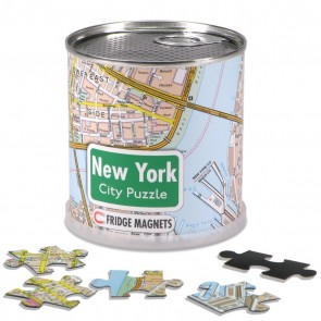 New York City Puzzle/New York bykort puslespil magnet