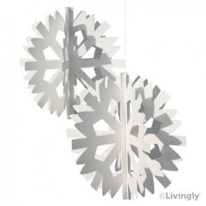 Scandinavian Snowflake 2 stk. hvid