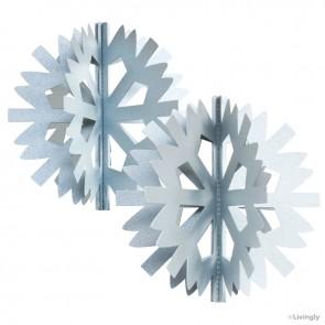 Scandinavian Snowflake 2 stk. Sølv