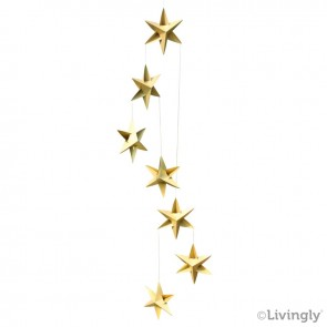 Stjernemobile 120 cm. guld