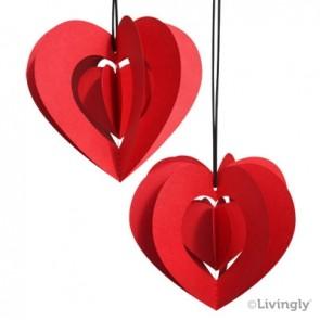 Clara hjerte 2 stk. rød