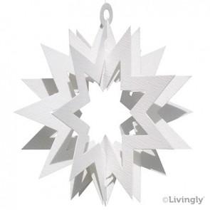 Folde-ud stjerne 2 stk 11 cm - Hvid