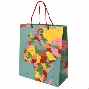 Large World Map Gift Bag