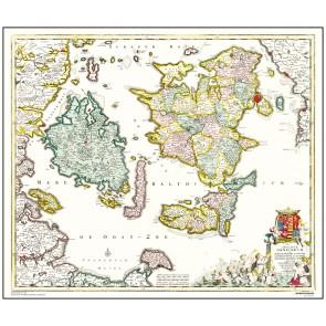 De danske øer - år 1710