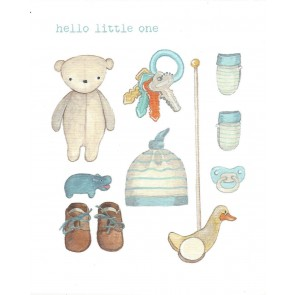 Hello little one (blue)