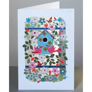 Fuglehus - dobbelt kort med kuvert