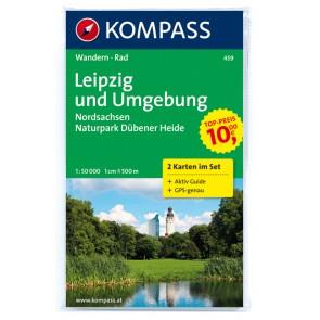 Leipzig und Umgebung, Nordsachsen (2 kort) m/ Aktiv Guide