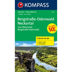 Bergstrasse, Odenwald, Neckartal (2 kort) m/ Aktiv Guide