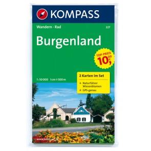 Burgenland (2 kort) m/ Naturführer