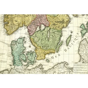 Danmark ved Østersøen med Skånelandene sidst i 1600-tallet