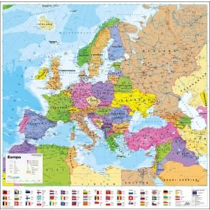 Europa politisk med flag