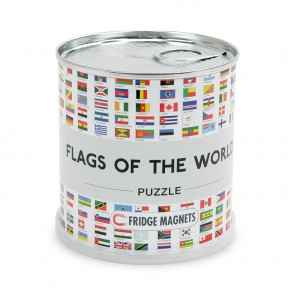 Flags of the World Puzzle/ Verdens flag puslespil magnet