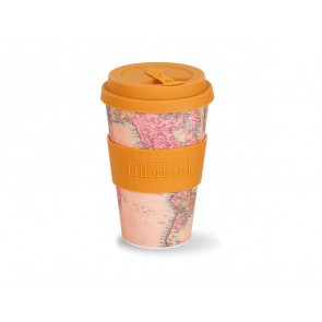 Bamboo cup 435 ml Map Sand Color