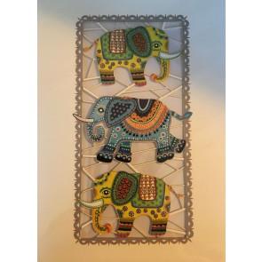 Tre elefanter -  dobbelt kort med kuvert