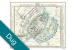 Kjøbenhavn med forstæder - år 1848 Voksdug