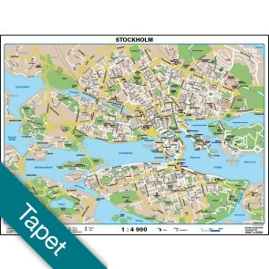 Stockholm bykort Tapet