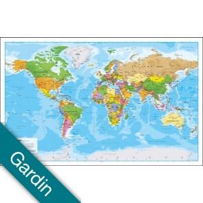 Verden politisk uden flag Gardin
