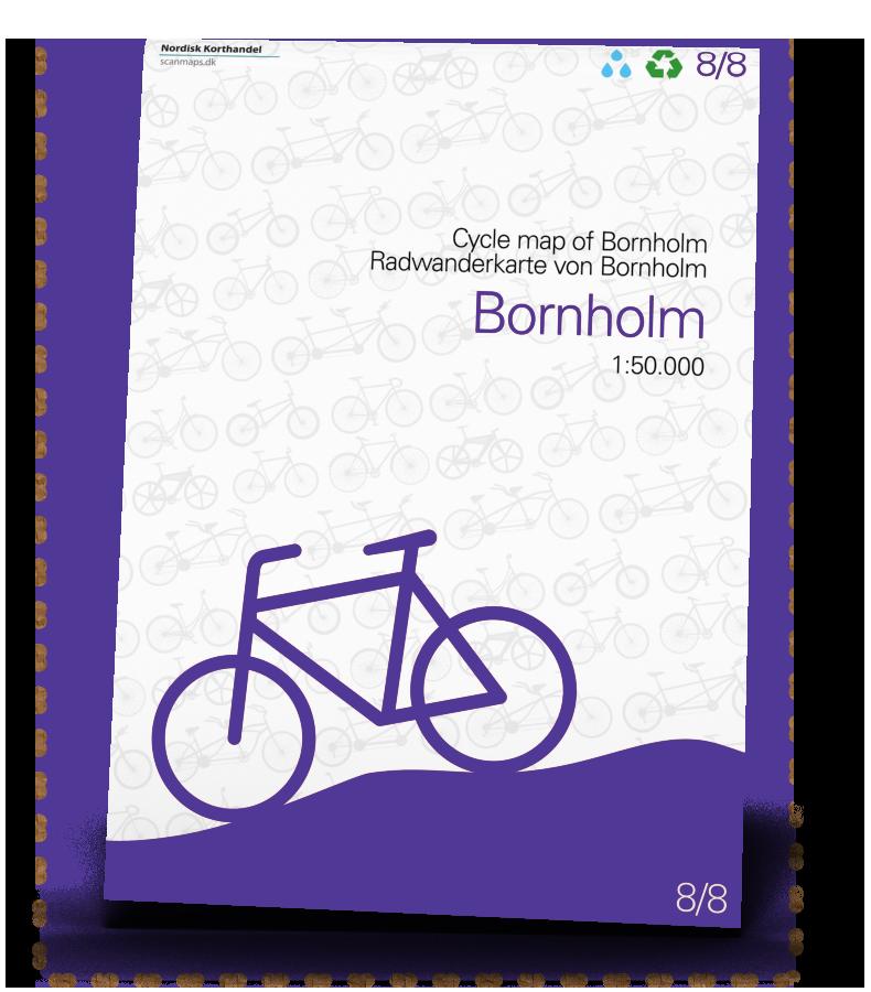 Bornholm Cykelkort i 1:50.000