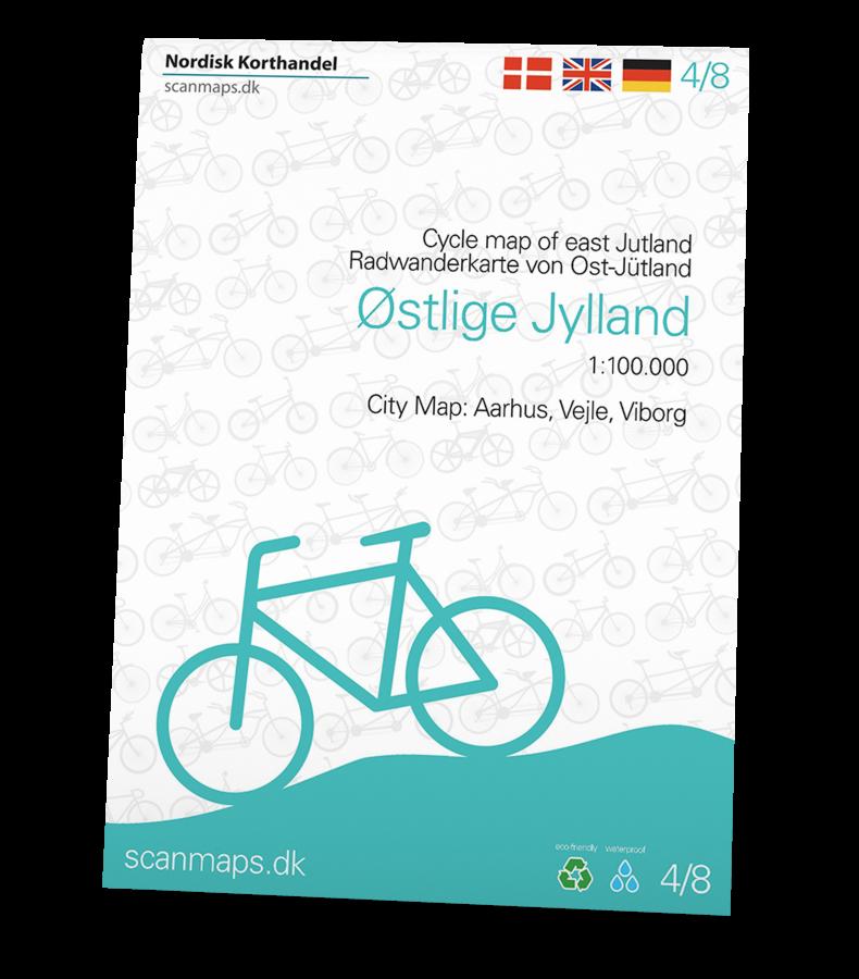 Cykelkort over Østlige Jylland