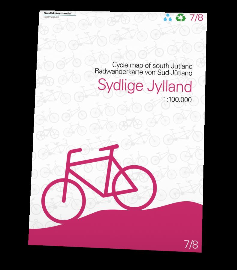 Sydlige Jylland Cykelkort i 1:100.000