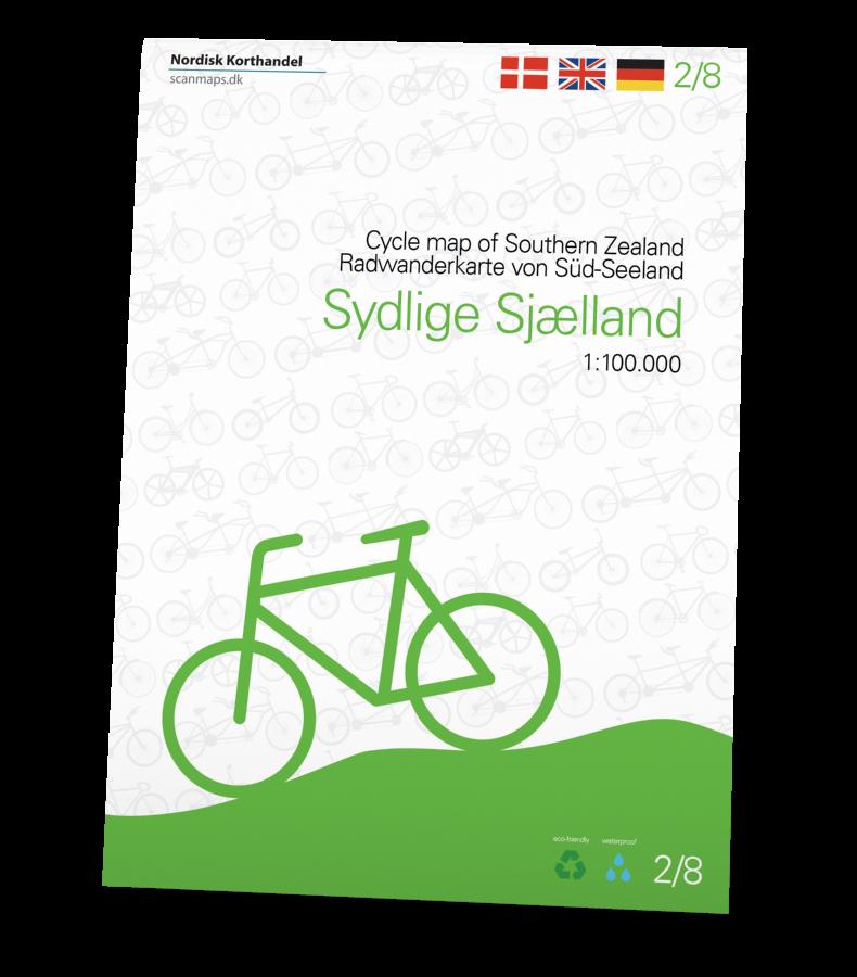 Sydlige Sjælland Cykelkort i 1:100.000