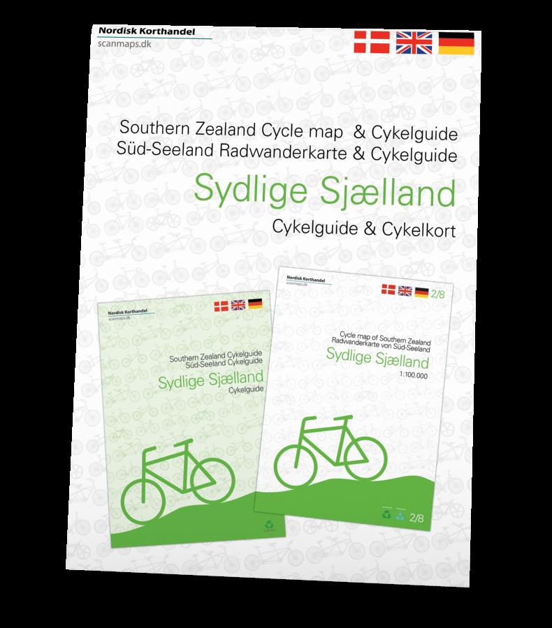 Sydlige Sjælland sampak med cykelkort og guide i ét