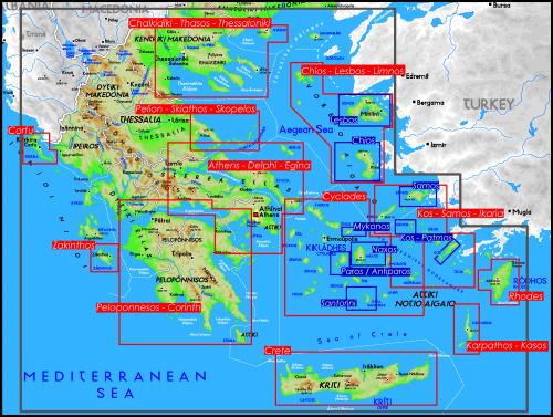 kort over samos