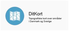 Ditkort - Topografiske danmarkskort