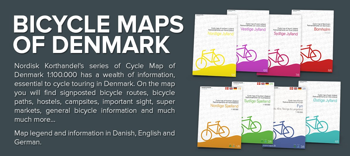 Bicycle map of Denmark