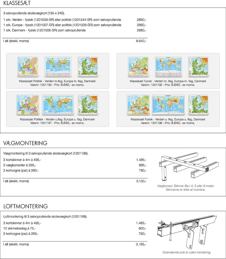 Kort Til Klassevaerelset Skolekort Kort Nordisk Korthandel